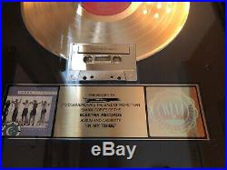 10,000 Maniacs RIAA Gold Record / Cassette Award In My Tribe Hologram