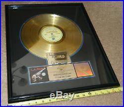 1989 LA GUNS 12 LP Gold Record Cocked and Loaded 21 x 17 RIAA award