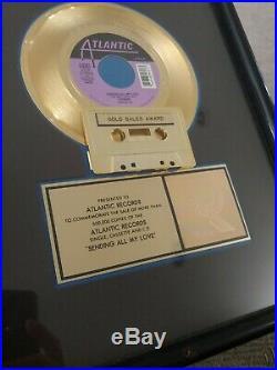 1990 Linear Sending All My Love Riaa Gold Single Record Award Atlantic Records