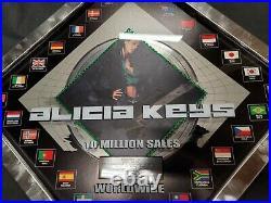 2001 RIAA Award ALICIA KEYS Platinum Gold Record Plaque SONGS IN A MINOR