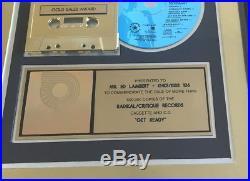 2Unlimited Gold Award RIAA Get Ready 2 Unlimited goldene Schallplatte