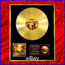 2pac Resurrection CD Gold Disc Vinyl Lp Record Award Display Free Ship To Uk