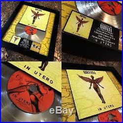 3 RARE Nirvana Platinum / Gold Record Disc Album Music Award Kurt Cobain RIAA