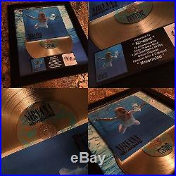 3 RARE Nirvana Platinum / Gold Record Disc Album Music Awards Kurt Cobain RIAA
