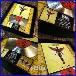 3 VERY RARE! NIRVANA Gold / Platinum Record Music Awards LP Disc Kurt Cobain