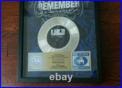 A Day To Remember RIAA Gold Sales Award Victory Records Pop Punk Vinyl ADTR Rare