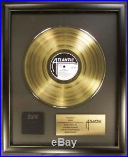 AC/DC Back In Black LP Gold Non RIAA Record Award Atlantic Records To AC/DC