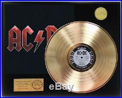 AC/DC Black Ice GOLD LP LTD EDITION RECORD DISPLAY AWARD QUALITY COLLECTION