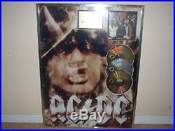 AC/DC GOLD RECORD AWARD NON RIAA HIGHWAY TO HELL! GERMANY 25 x19