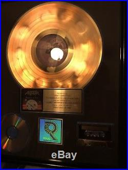 ANTHRAX Authentic RIAA CERTIFIED GOLD RECORD AWARD Persistence Of Time 1990