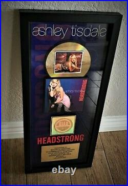 ASHLEY TISDALE 2008 RIAA Gold Record Sales Award / HEADSTRONG
