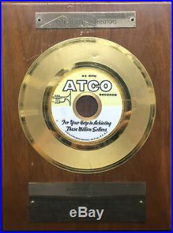ATLANTIC RECORDS 1967 Vintage Original In-House Gold 45 Award ARTHUR CONLEY
