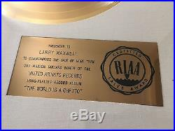 AUTHENTIC 1970s WAR THE WORLD IS A GHETTO RIAA GOLD RECORD AWARD LARRY MAXWELL