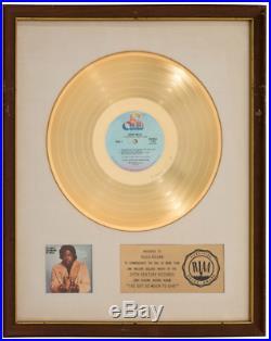 AUTHENTIC 1973 Barry White RIAA White Matte Gold Record Award