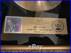 Adam Ant Original Friend Or Foe RIAA Gold Record Plaque Award