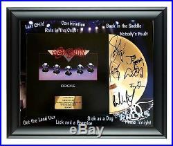 Aerosmith Autographed Rocks LP Gold Record Award Steven Tyler