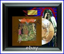 Aerosmith Autographed Toys In The Attic Album LP Gold Record Award Steven Tyler