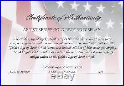 Aerosmith Gems Gold Lp Ltd Edition Record Display Award Quality Collectible