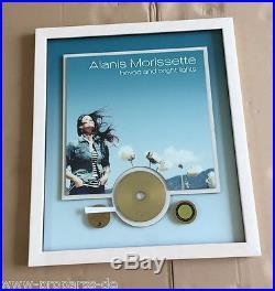 Alanis Morissette Gold Award (goldene Schallplatte) havoc and bright lights