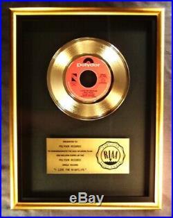 Alicia Bridges I Love The Nightlife (Disco'Round) 45 Gold RIAA Record Award