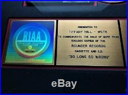 Alison Krauss and Union Station SO LONG SO WRONG 1997 RIAA Gold Record Award