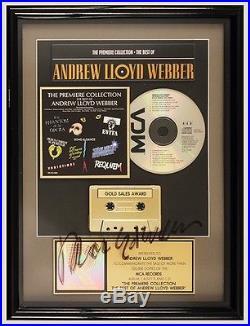 Andrew Lloyd Weber Signed Original RIAA Gold Record Award