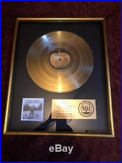 Apple Records George Harrison RIAA GOLD RECORD AWARD PRESENTED TO BOB DYLAN