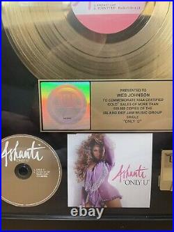 Ashanti Only U Gold Record RIAA Award (Extremely Rare)