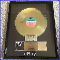 Atlantic Records RIAA Certified Gold Album Sales Award Levert The Big Throwdow