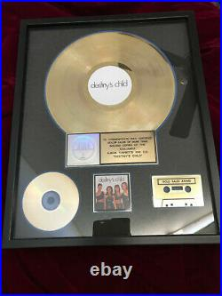 Authentic DESTINY'S CHILD BEYONCE Gold Record Award RIAA