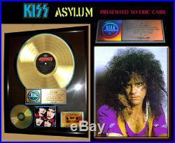 Authentic, KISS, ASYLUM GOLD RIAA RECORD AWARD! TO ERIC CARR, Gene Simmons