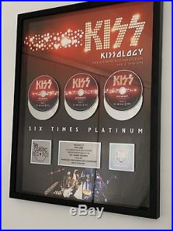 Authentic, KISS, RIAA GOLD RECORD DVD Award For Kissology 2