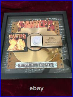 Authentic PANTERA ReInventing The Steel RIAA Gold Record Award
