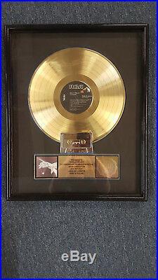 Autograph Sign In Please Riaa Gold Record Award
