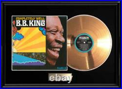 B. B. King Completely Well Gold Metalized Record Lp Album Frame Non Riaa Award