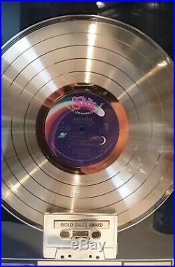 BABYFACE Tender Lover RIAA FRAMED GOLD SOLAR RECORD LP CASSETTE AWARD