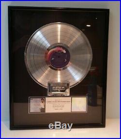 BABYFACE Tender Lover RIAA PLATINUM GOLD SOLAR RECORD LP CASSETTE AWARD