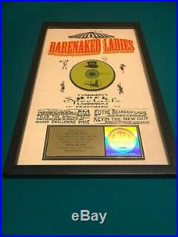 BARENAKED LADIES Rock Spectacle Framed RIAA Gold Record Award Excellent