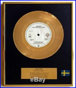 BEE GEES Sweden GOLD RECORD AWARD You Win Again 25,000 COPIES SOLD Non-RIAA