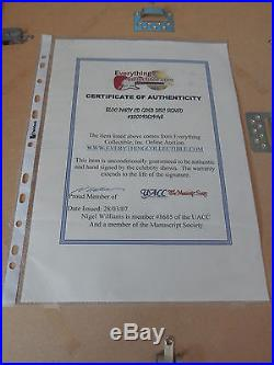 BLOC PARTY Silent Alarm GOLD AWARD Hand Signed UK 2007 with Certificate
