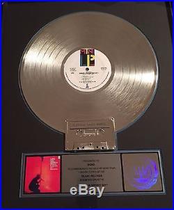 BONO'S U2 RIAA Gold Record Award Under A Bloody Red Sky