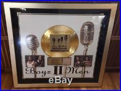 BOYZ II MEN Nathan Michael Shawn Wayna FRAMED RIAA GOLD RECORD LP CD SALES AWARD