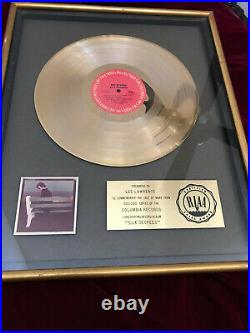 BOZ SCAGGS Silk Degrees Gold RIAA Record Award