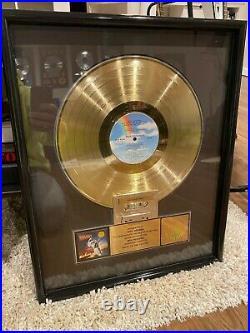 Back to the future RIAA Gold Record Award (Mint!)