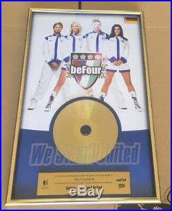 BeFour Gold Award goldene Schallplatte We Stand United 2009 Musikpreis