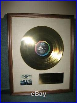Beach Boys Shut Down Vol. 2 Gold RIAA Record Award Original with N Y Co. Sticker