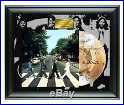 Beatles Autographed Abbey Road Album LP Gold Record Award John Lennon Signature