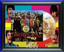 Beatles Autographed Sgt Peppers Album LP Gold Record Award John Lennon