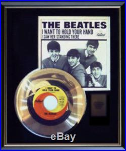 Beatles I Want To Hold Your Hand Rare Gold Record Award Disc 45 RPM & Sleeve
