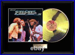 Bee Gees Live Framed Lp White Gold Platinum Tone Record Lp Rare Non Riaa Award
